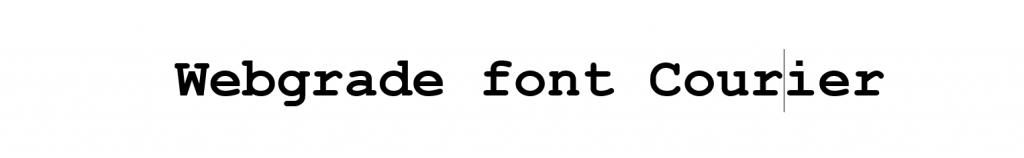 font monospaced